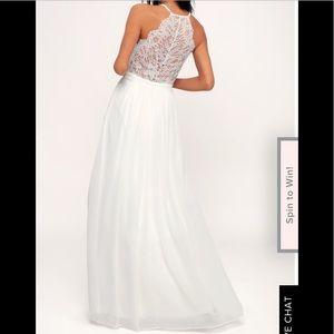 Lulu's  Everlasting Beauty White Lace